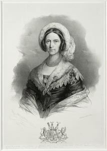 Portret van Sophia Wilhelmina Petronella van Heeckeren van Kell (1772-1847), op haar borst een medaillon met een portret van Anna Paulowna Romanov (1795-1865)