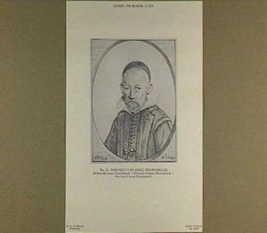 Portret van predikant Isaac Hoornbeeck (1587-1648)