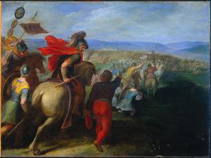 De Romeinen onder Cerealis verslaan Claudius Civilis door het verraad van een Bataaf