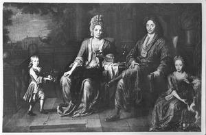Portret mogelijk van de familie van Johan van Isselmuden (1676-1732)
