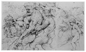 De dronkenschap van Hercules (reconstructie met het afgesneden rechter deel met Venus en Cupido)