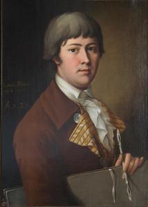 Portret van Heinrich Jakob Tischbein (1760-1804) op 32-jarige leeftijd