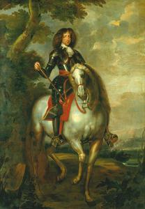 Ruiterportret van Koning Christiaan V van Denemarken (1646-1699)