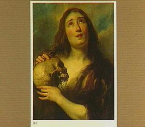 De boetvaardige Maria Magdalena met een schedel in de hand