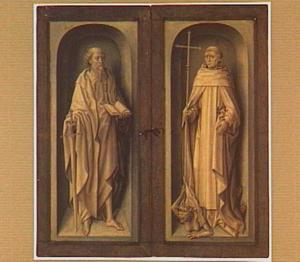 H. Paulus (links) en H. Bernardus (rechts) in grisaille