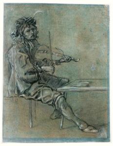 Zittende violist