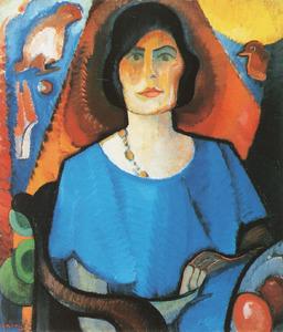 Zelfportret van Else Berg (1877-1942)