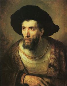 Halffiguur van een man met een baard, bekend als 'De filosoof'