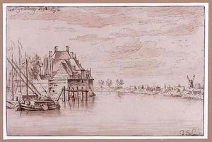 De rivier de Maas bij Dordrecht