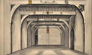 Kamer uit 1529 in het huis Bleijenburg (Reuzenhuis) in Dordrecht