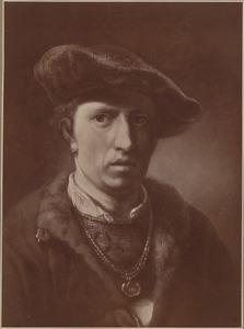 Portrtet van een man, zogenaamd zelfportret van Gerbrand van den Eeckhout (1621-1674)