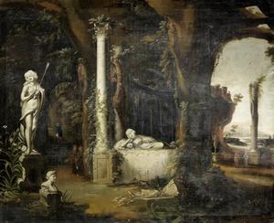 Grot met de graftombe van Maria Magdalena