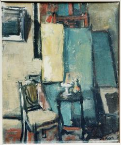 Interieur van het atelier