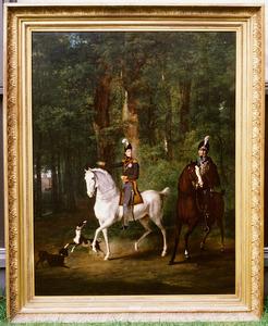Portret van koning Willem II (1792-1849) als kroonprins en Jean Charles van Bylandt (1776-1841)