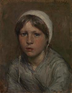 Portret van een Schevenings meisje