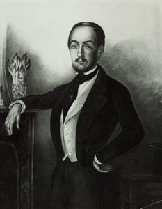 Portret van een man genaamd Van Golstein