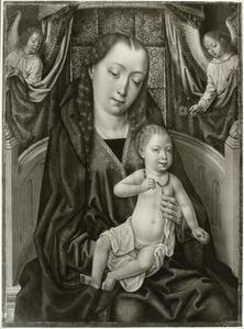 Maria met kind en twee engelen