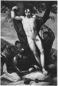 De bevrijding van Achior door de Israelieten (Apocr. Judith 6:10)