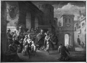 David danst voor de ark (2 Samuel 6:15)