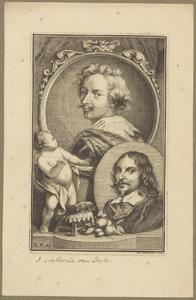 Portretten van Anthony van Dyck (1599-1641) en Jan Davidsz. de Heem (1606-....)