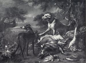 Jachtstilleven met wolf