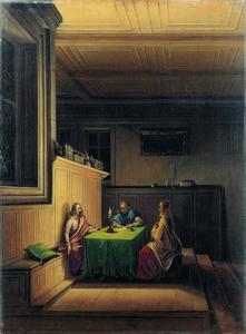Christus in het huis van Nikodemus