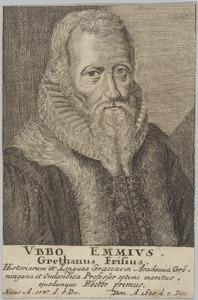 Portret van Ubbo Emmius (1547-1625)