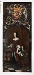 Portret van Mary I Stuart met de jonge prins Willem III