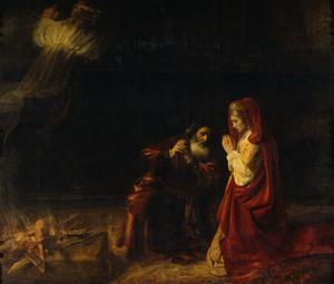 Het offer van Manoah (Richteren 13:20)
