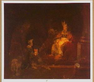 Hanna draagt de jonge Samuel over aan Eli om de Heer te dienen  (1 Samuel 1:25-28)