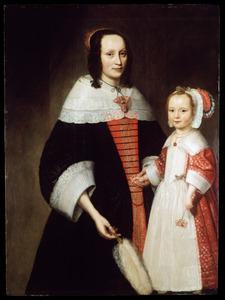 Portret van een onbekende vrouw met een meisje