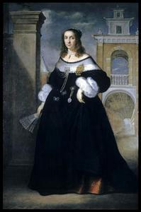 Portret van Margherita, echtgenote van Balthasar van der Goes