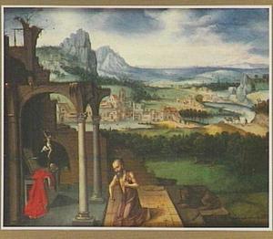 De boetvaardige Hieronymus in een landschap