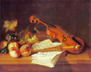 Stilleven met een viool