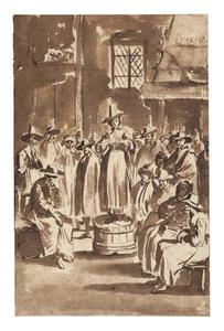 Gebedsbijeenkomst van de Quakers
