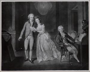 Portret van de drie kinderen van stadhouder Willem V