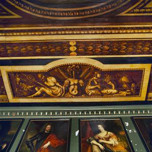 Allegorie in betrekking tot de overwinning, eendracht en kunsten