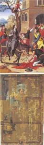 De intocht van Christus in Jeruzalem (binnenzijde); de H. Trudo (buitenzijde)
