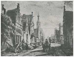 Nieuwe Rietdijk en Vijzelstraat in Enkhuizen