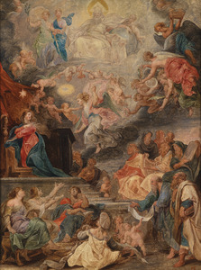 Allegorie op de menswording van Christus als de vervulling van ale profetieën van het Oude Testament
