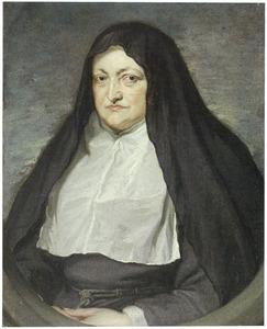 Portret van Isabella Clara Eugenia van Habsburg (1566-1633), infanta van Spanje, als weduwe in het habijt van de Ongeschoeide Clarissen