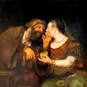 Lot wordt door zijn dochters gevoerd (Genesis 19:33-34)