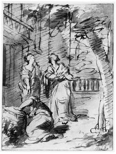 De dochters van Cecrops ontdekken Erichthonius