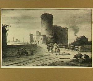 Nantes, figuren bij het kasteel Pirmil