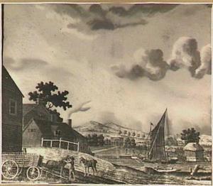 Heuvellandschap met zeilboot