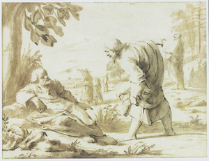 Johannes de Doper wijzend naar Christus