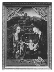 De H. Familie en de H. Catharina