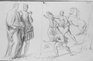 Studie naar fresco's van Andrea del Sarto