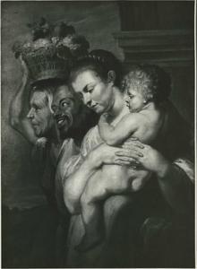 Diogenes op zoek naar een oprechte mens: een deel van de menigte