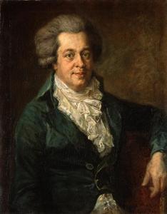 Portret van Wolfgang Amadeus Mozart (1756-1791)
